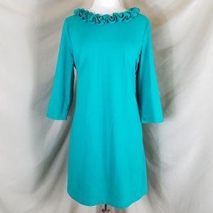 🌻 Talbots Ruffled Knit Dress